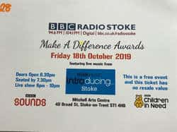 BBC Radio Stoke make a difference awards 2019