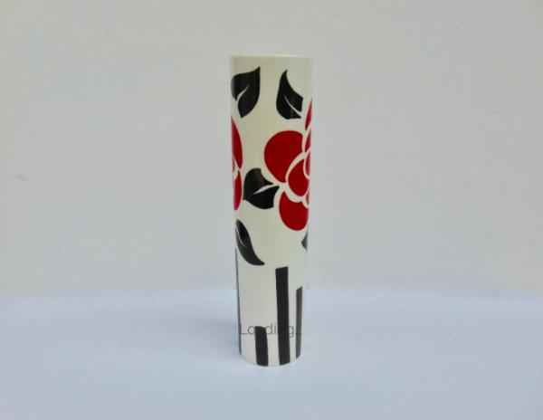 Deco rose cylinder vase