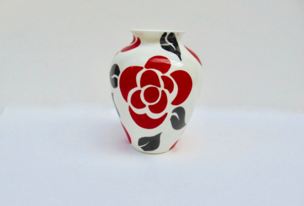 Deco rose spray vase