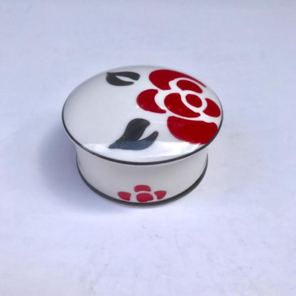 Deco rose round box