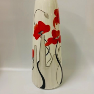 Potteries and poppies vase