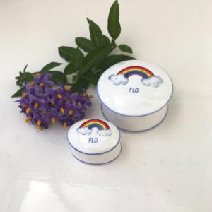 Rainbow trinket boxes