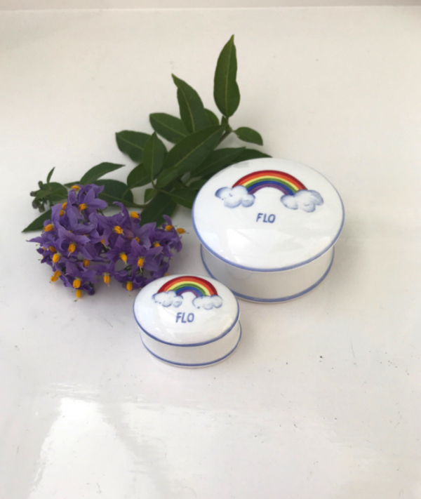 Rainbow trinket boxes