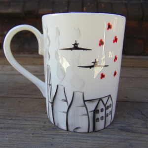 Potteries, poppies and spitfire mug no 1