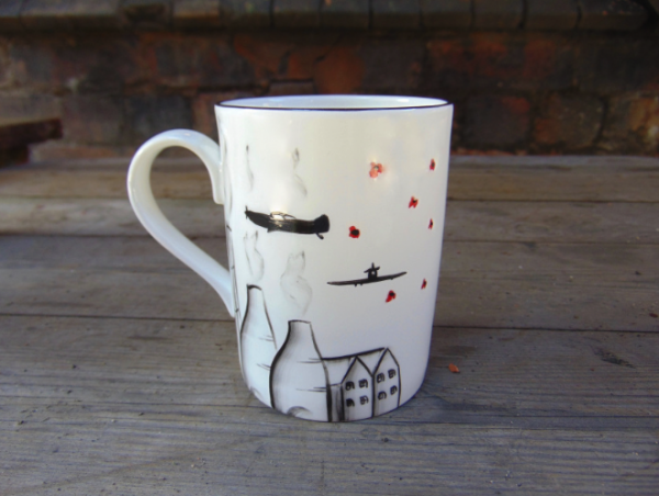 Potteries, poppies and spitfire mug no 3