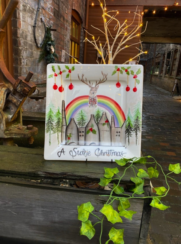 A Stoke Christmas plaque