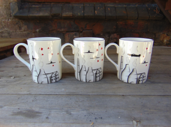 Potteries, poppies and spitfire mug no 2