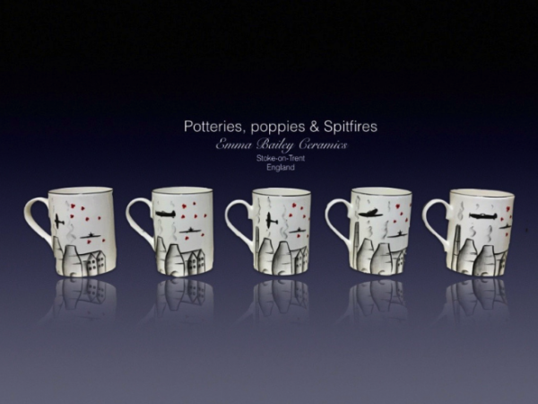 Potteries, poppies and spitfire mug no 2